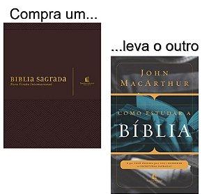 Kit: Bíblia NVI com espaço para anotações (marrom) + Livro como estudar a Bíblia