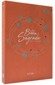 Bíblia Sagrada NVI Grande - Capa Brochura - Laranja