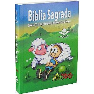 Bíblia Sagrada Mig e Meg – Letra Normal NTLH – Capa Ilustrada Azul
