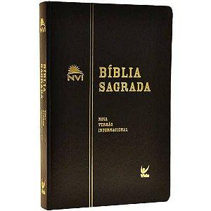 Bíblia Nvi Média - Semi-luxo Preta