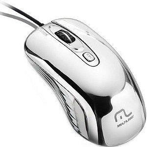 MOUSE PRATEADO COM LED USB MO228