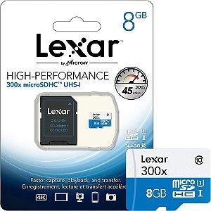 CARTAO DE MEMORIA MICRO SD COM ADAP. 8GB CLASSE 10