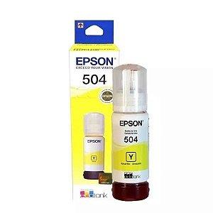 Refil Tinta Epson T504 Amarelo L4150