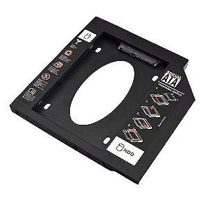 Adaptador Hdd Sdd Multilaser Para Notebook, Baia 12.7mm, Cd Dvd - Ga172