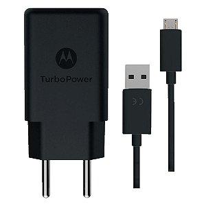 Carregador de Parede Motorola, Turbo Power, 15W, USB