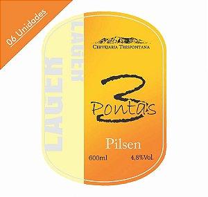 Caixa com 06 Cervejas Trespontana 3Pontas Pilsen