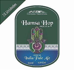 Caixa com 12 Cervejas Trespontana Hamsa Hop American Ale
