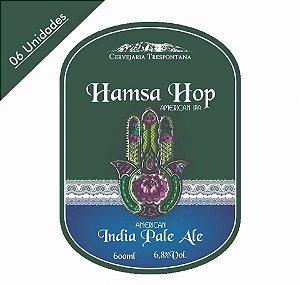 Caixa com 06 Cervejas Trespontana Hamsa Hop American Ale