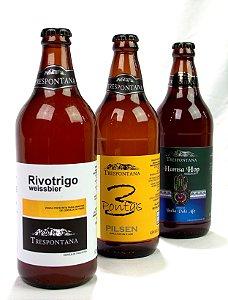 Kit com 12 Cervejas Trespontana (06 de Cada)
