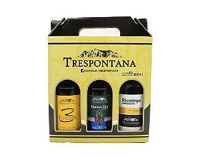 Kit para Presente com 03 Cervejas Trespontana (01 de Cada)