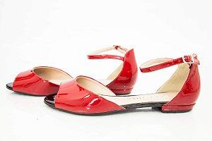 Sapatilha Vermelha Verniz - Di Valentini
