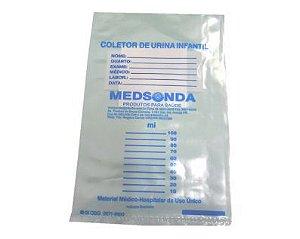 Coletor de Urina Infantil Unissex Tipo Saco (10Un) - Medsonda