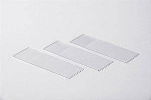Lamina de Vidro Microscópica Fosca não lapidada (50Un) - Adlin