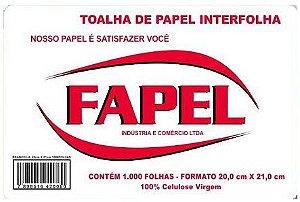 Papel Toalha 100% Celulose (1000 Folhas) 20X21 - Fapel
