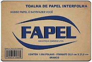 Papel Toalha Branco (1000 Folhas) 20X21 - Fapel