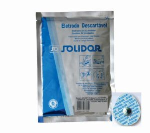 Eletrodo ECG Adulto/Infantil Redondo (50Un) - Solidor