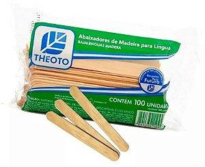 Abaixador de Língua de Madeira (100un) - Theoto