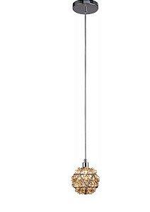 Pendente Zayn Cristal Cognac 1L Mantra 30431