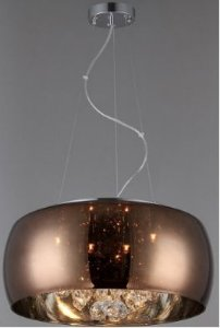 Pendente Cristal 6xG9 cafe com conhaque BLL03-CO