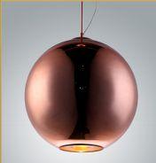 Pendente bola vidro 1xE27 bronze chandelie L2334