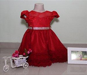 Vestido de Festa Infantil Chapeuzinho Vermelho