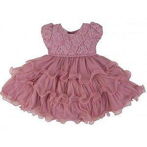 Vestido de Festa Infantil Rose