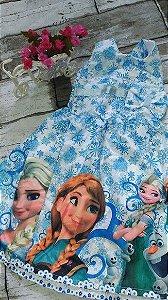 Vestido de Festa Infantil Frozen