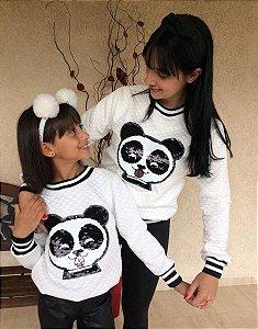 Tal mãe, Tal filha ou tal filho blusa Matelasse Panda