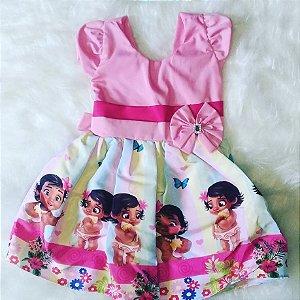 Vestido de Festa Infantil Moana Baby