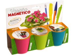 Kit Vasos Organizador e Plantio Com Imã
