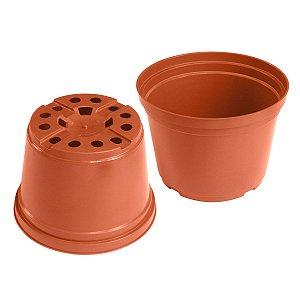 Vaso Plástico 9cm x 12,5cm Linha Alta Drenagem