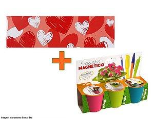 Chapa metálica personalizada + Kit vaso imã