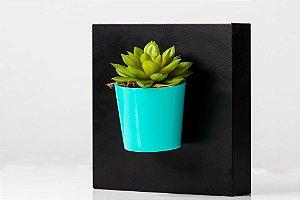 Vaso imã baixo + Suculenta Artificial