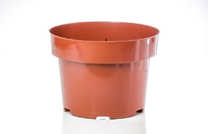 Vaso Plástico 14,2cm x 19,5cm Linha Alta Drenagem