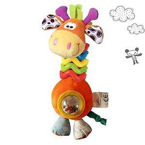 Chocalho Girafinha Argolinhas Sensorial