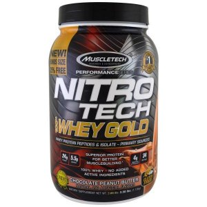Nitro Tech Whey 100% Gold 2,5lb (1,1kg) - MuscleTech