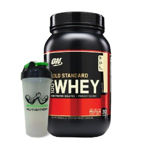 100% Whey Gold Standard 2lb (909g) - Optimum Nutrition + Coqueteleira Brothers Nutrition