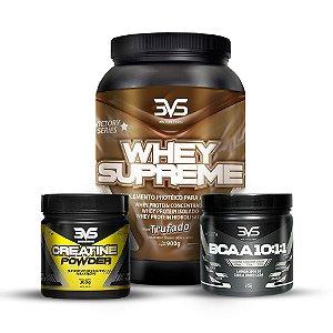 COMBO 3VS - Whey Supreme 900g - 3VS Nutrition + Creatine Powder 300g - 3VS Nutrition + BCAA 10:1:1 250g - 3VS Nutrition