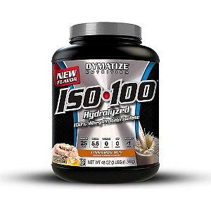 Iso100 100% Hydrolized 3lb (1,360kg) - Canela (Venc. 03/18) - Dymatize