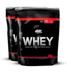 ON Whey 100% Refil (COMBO 2 UNIDADES) - Optimum Nutrition