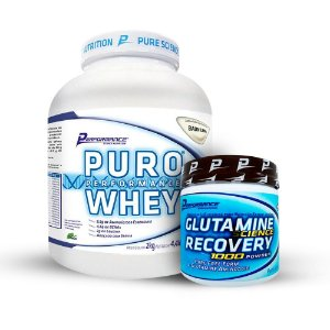 COMBO Puro Whey 2kg - Performance Nutrition + Glutamina 300g - Performance Nutrition