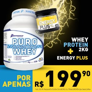 COMBO Puro Whey 2kg - Performance + Energy Plus 150g - Optimum Nutrition