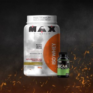 ISO Whey Max Titanium (900g) + BCAA ON 1000 (60 caps)