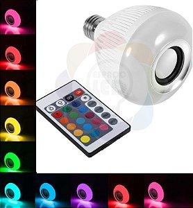 Lâmpada De Led Music Bluetooth RGB 12w C/ Controle Remoto