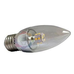 Lâmpada LED Vela Cristal 5w E27 Branca Quente