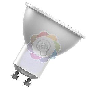 Lâmpada LED Dicróica/MR16 5w GU10 Branca Quente