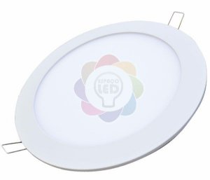 Plafon LED12w Embutir Redondo Branco Quente