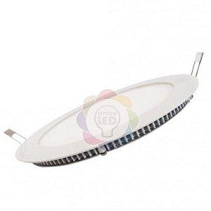 Plafon LED 25w Embutir Redondo Branco Quente
