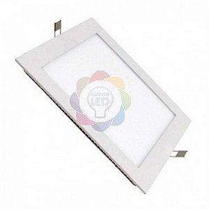 Plafon LED 25w Embutir Quadrado Branco Quente