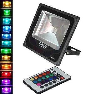 Refletor LED 50w Colorido RGB